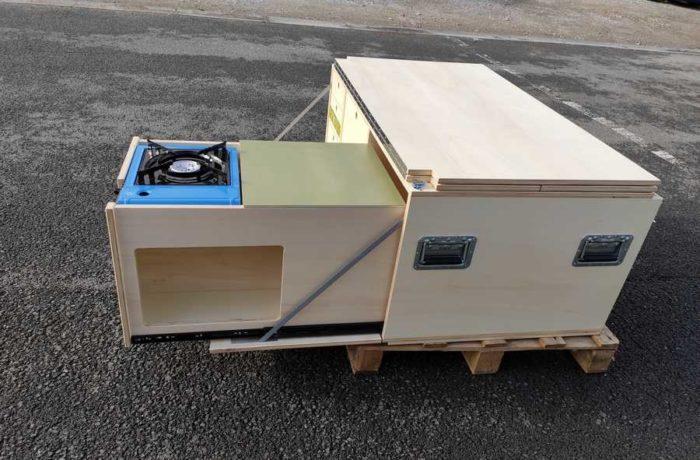 campinbox-modèle Aventure tiroir évier modifié