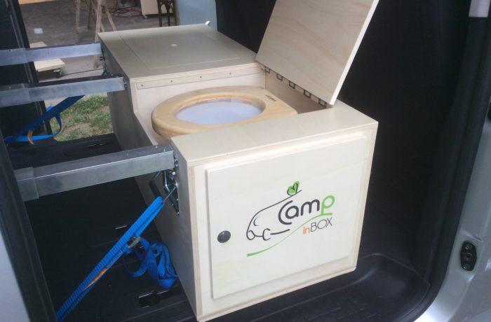 campinbox-caisson avec toilettes sèches dans Pro Ace